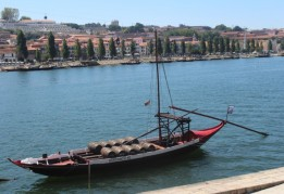 Wine boat; Port, Portugal.