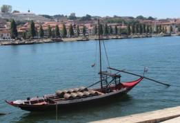 Wine boat; Port, Portugal.