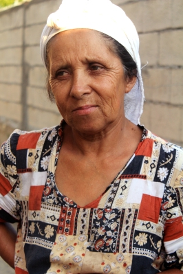 Old gypsy woman; Lushjne, Albania.