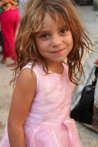Gypsy (Roma) girl in Albania.