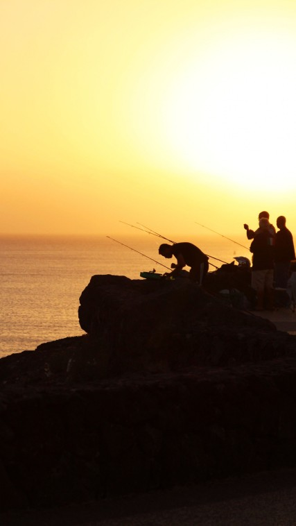 Fishermen; Lanzarote, Canary Islands.