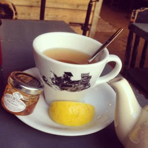 Chai tea with lemon and honey, a favorite at the Shabby Scholor, a cafe and coffeeshop where I go every Saturday I'm home to get some rest and time with Jesus!