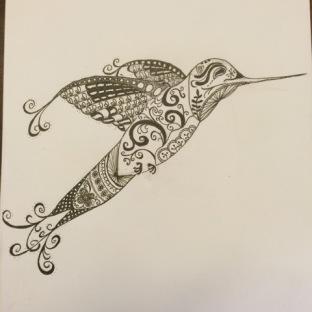 Zentangles - Janyre Tromp - Hummingbird
