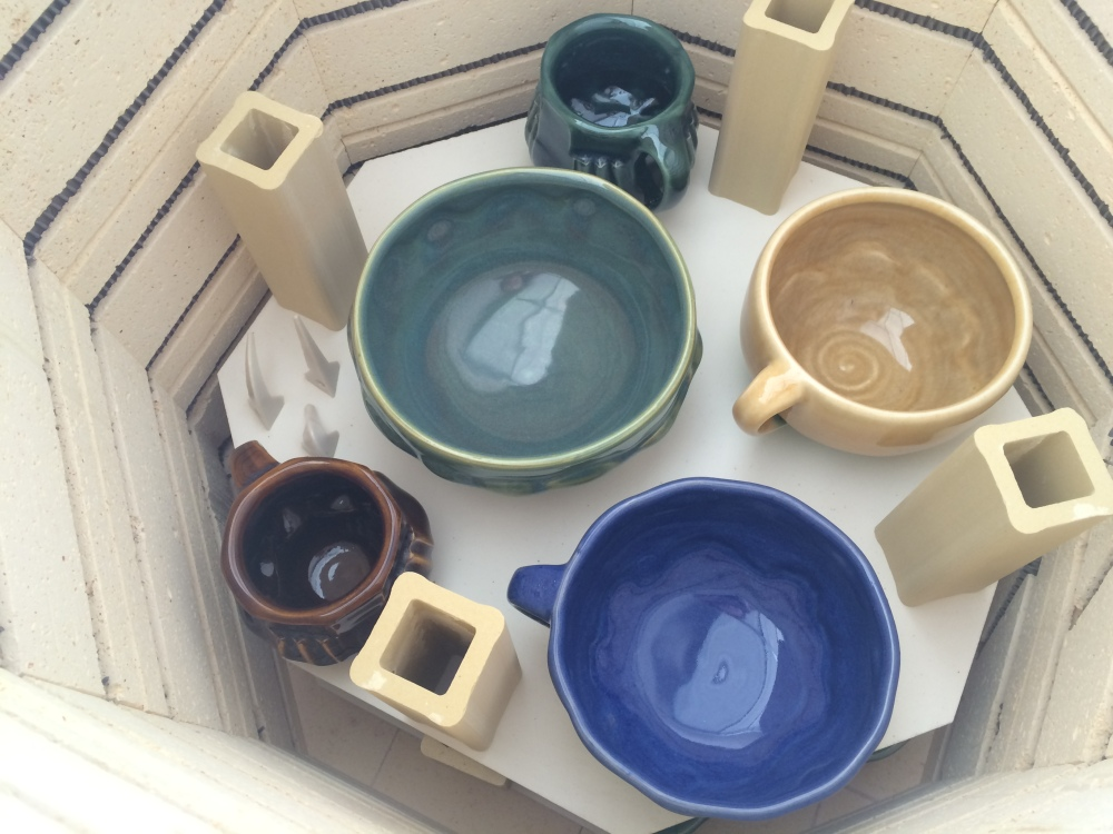 Pottery in kiln